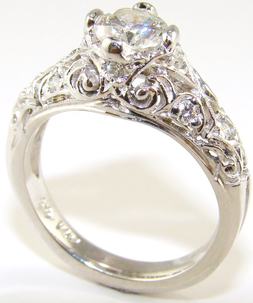 vintage art cushion cut product rings in platinum antique home engagement deco diamond modern ring